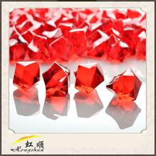 Zhejiang red gem stones crystal wedding decorators- 3/4 lb bag for wedding