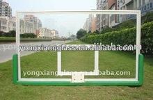 Safety laminated glass basketball backboard