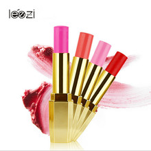 Wholesale Best Selling Fahsion Design Golden Tube Cosmetics Naked Natural Long Lasting Rose Red lipstick