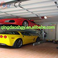 Adjustable Mini Tilting Car parking lift , Easy Parking type 2 post car parking lift , Hydraulic tilt car stackers lift