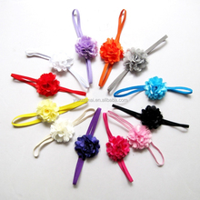 Cheap baby chiffon flower headband/ kids cotton chevron elastic headbands/ infant toddler cute flower headband