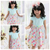 fashion design small girls dress cotton polka dot small girl garments
