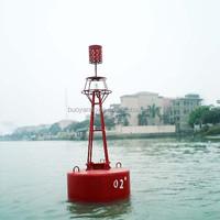 red navigation polyethylene light buoy from China