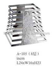 High Quality Stainless Steel 8 Tiers Buffet Stand For Hotel ,Restaurant,Banquet