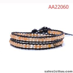 2015 girls fancy bracelets black leather string fashion bracelet