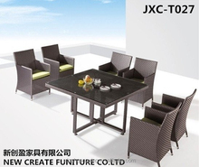 Outdoor furniture garden chair american style rattan chair and table set