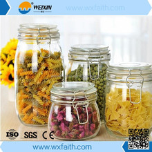 Clip Lid Glass Storage Jar