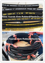 China supplier SAE DIN EN R1~R2 high pressure flexible hydraulic rubber hose pipe