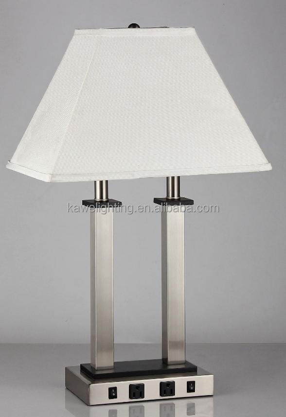 Table Lamp With Usb Port And Outlet Best Inspiration For