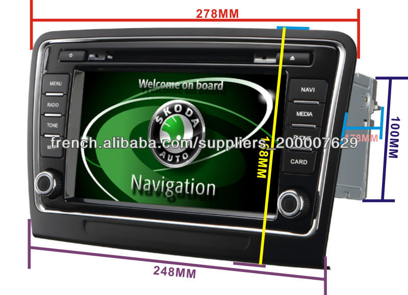 8 pouces tactile hd dvd de voiture cran pour skoda superb avec fonction obd radio fm 3g ans830. Black Bedroom Furniture Sets. Home Design Ideas
