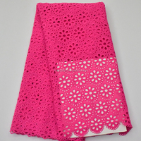 Fushia Pink Milk Cotton African cord lace guipure lace fabric nigerian lace material HY0261