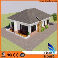 One Level Low Cost Customized Design Steel Prefabricated Bungalow