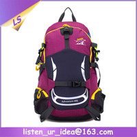 Wholesale travel women pink hiking backpack