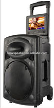 rechargeable trolley speaker with dvd player
