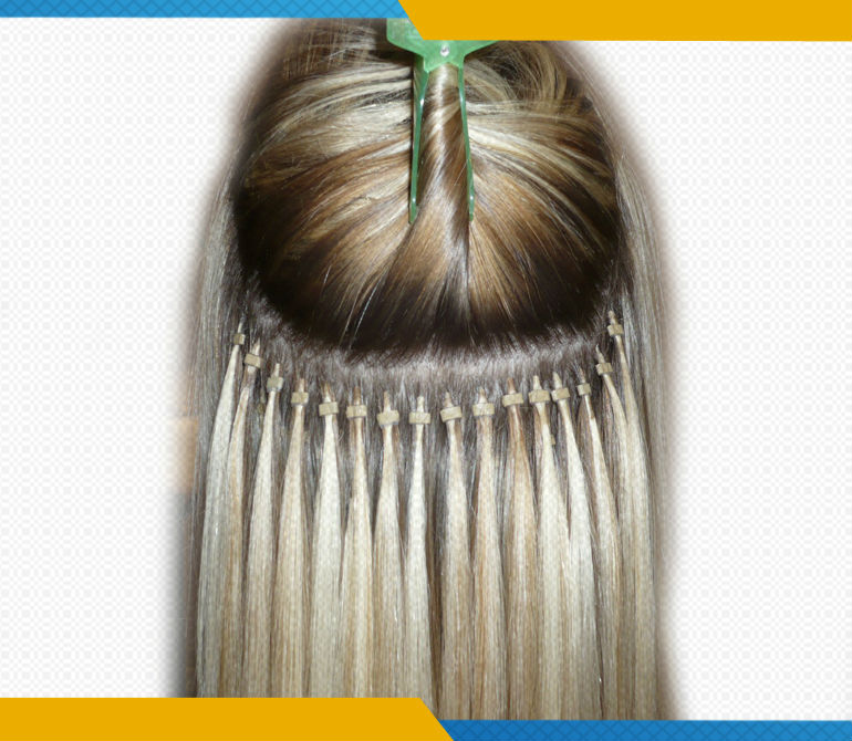 Chinese Remy Kinky Straight Micro Ring Hair 57