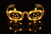 2016 China Factory Direct Sale Halloween Pumpkin Led Flashing Sunglass Halloween Party Supplies 3 Settings