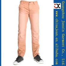 2013 elegante jeans color naranja para hombres luz pantalones vaqueros de color (JXC30830)