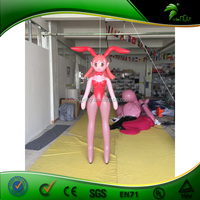 2015 New Wonderful Design Best Popular Inflatable Lovely Girl Inflatable Sexy Girl Characters for Sale