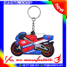 Promotion Custom Rubber Motorcycle Keychains