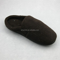 Classic double-faced coral fleece fabric slippers