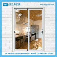 Aluminum Glass sliding Doors For Kitchen