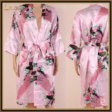 wholesales PayPal transfer woman silk satin kimono robes ,bathrobes S M L XL XXL 3XL Stock