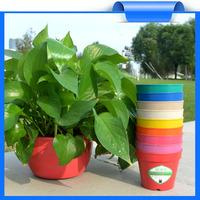Plant flower pots wholesale,cheap plant fiber substitute Plastic flower pots