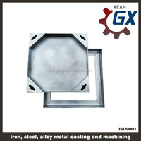 standard lockable stainless steel manhole cover size