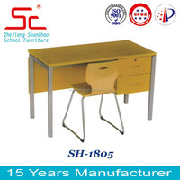 Hot sale teacher desk with chair SH - 1805