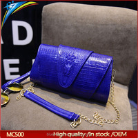 Latest USA hot selling long chain strap shoulder bag for girls Alligator pattern dinner bag