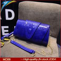 Latest USA hot selling long chain strap shoulder bag for girls Alligator pattern dinner bag