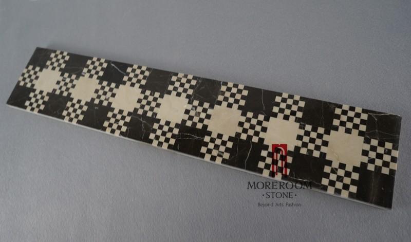 MBD59MG1260 NERO MARGIUA MARBLE STONE PRICE MARBLE MOSAIC border tiles MOREOOM SRONE-1.jpg
