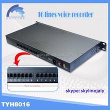 Hot selling !!16 line phone voice recorder recorder tool,automatic voice recorder,mutil ports