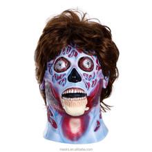 Custom made Halloween Horror full head latex mask with hair