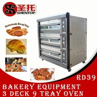 Shentop STPAB-RD39 3 layers and 9 trays commercial bakery equipment prices industrial bread baking oven
