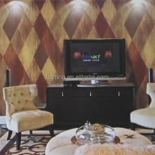 colorful rhombus vinyl coated home / hotel / restaurant wallpaper