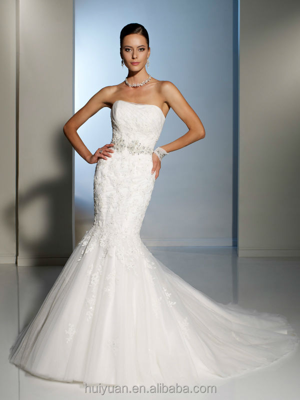 White trumpet mermaid beaded backless wedding dress for Wedding dress beading patterns