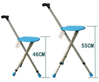 The elderly man crutch telescopic crutch stool stool stool three quadripod cane cane chair