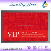 LBD Flashing Christmas PVC Plastic Cards