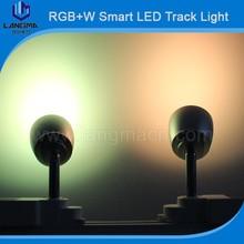 Aluminum heat sink design 350 degree rotatable intelligent led track lamp
