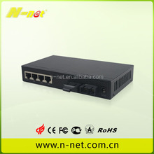 Dual fiber single mode 100km Gigabit unmanaged media converter for indor