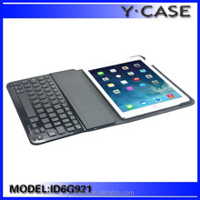 Beautiful design leather case with keyboard for iPad air 2 ,for iPad 6 leather case ,customized is acceptable