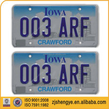 American size decorative embossed aluminum Car License Plate