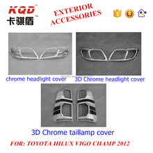 4x4 accessories 3D chrome taillamp cover for hilux vigo champ 2013 toyota hilux vigo toyota vigo parts