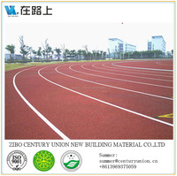 All weather Atheletic Running Track, synthetic rubber running track material, running track surface spray paint
