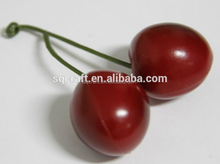 wholesales hight quality artificial cherry Artificial Cherry fruit fake fruits