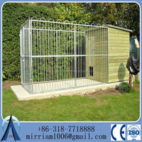 10x10x6 foot classic galvanized outdoor dog kennel/cheap dog fence/dog house factory
