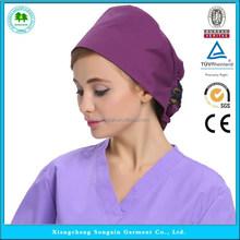 Melhor qualidade sólidos toucas modena enfermeira médica chapéus por atacado