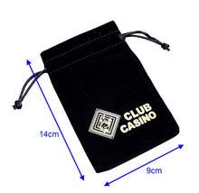 High Quality Custom Black velvet pouch drawstring bag