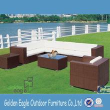 L shape sofa sectional sofa rattan sofa with waterproof cushion